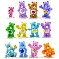 12 Pçs/lote Anime Care Bears Mini Ação PVC Figuras Brinquedos 4-5 cm Ursos Coloridos Modelo Collectible Dolls Para crianças Brinquedo de Presente