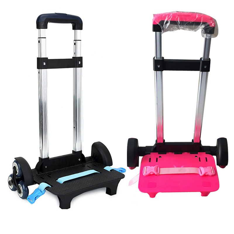 3 Wheel Fold Pull Rod Bracket Roll Cart Trolley School Bags easy climb the stairs,Trolley School Bags