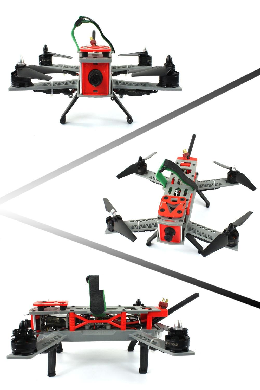 JMT Mini 260 SP Racing F3 DIY Quacopter ARF/No Battery FPV RC Drone 2.4G 9CH 5.8G 700TVL HD Camera Light Carrying Bag