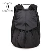 Creative School Bags Oxford Men Laptop Backpack Rhinoceros Horn Large Capacity Leisure Travel Bag Organizer for Teenagers Men