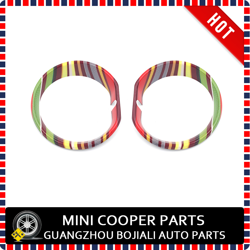 US $32 3 5% OFF Brand New ABS Material UV Protected Mini Ray Style Cooper  Model Fog Lamp Surround For mini Clubman F54 F60 Countryman (2Pcs/Set)-in