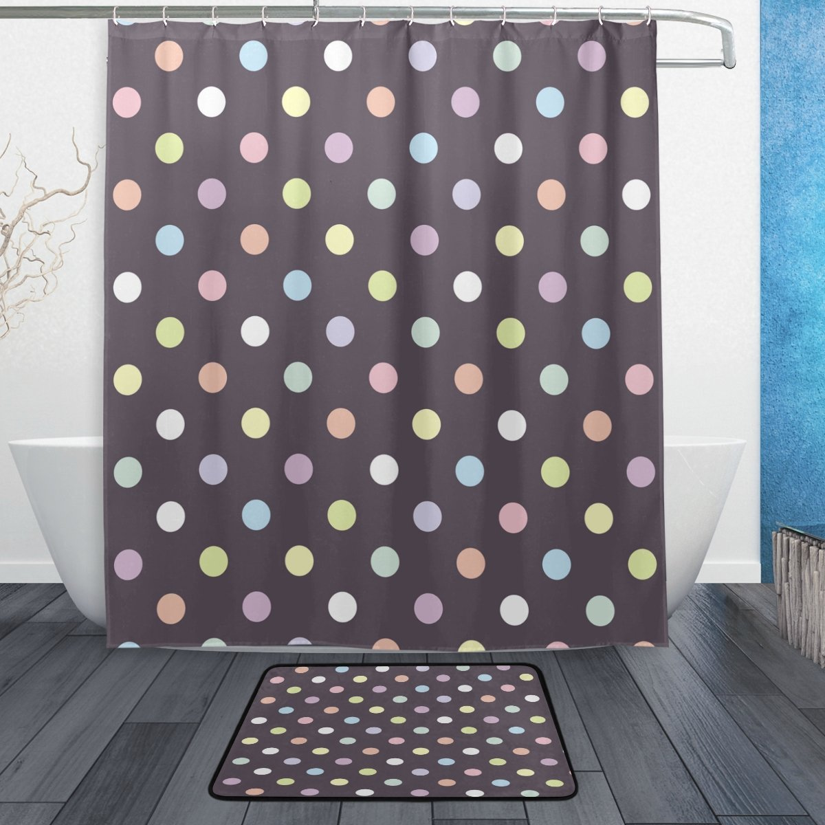 Retro Colorful Polka Dot Waterproof Polyester Fabric