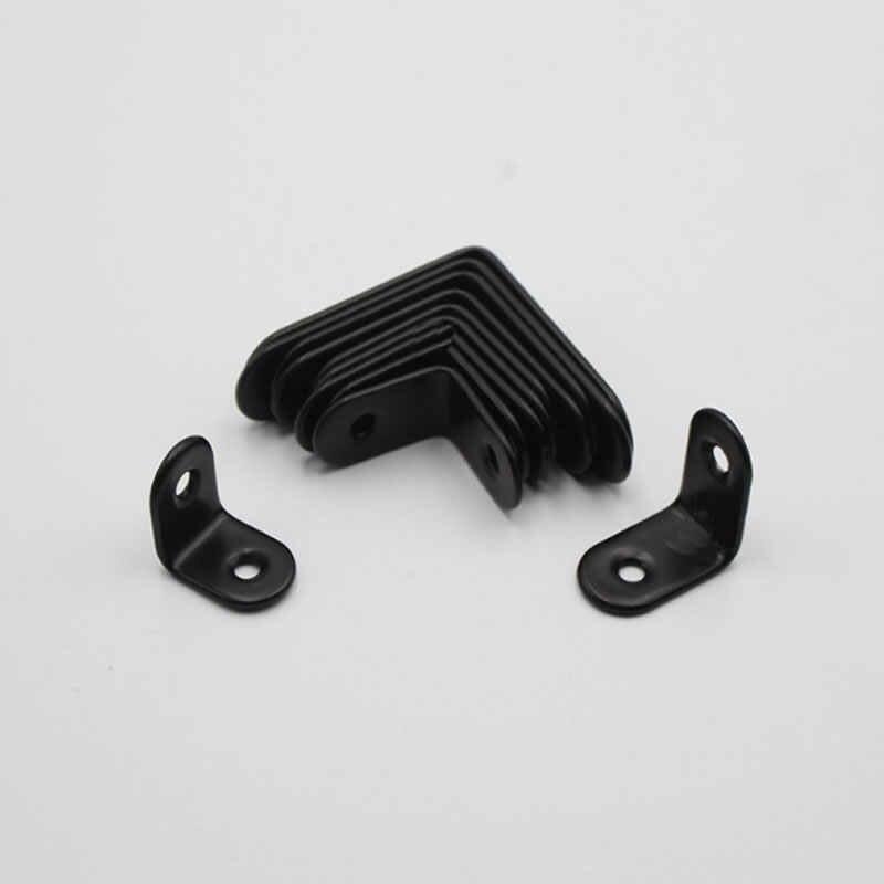 L 型固定ブラケットコネクタ、肥厚ステンレス鋼、ラミネートサポート、 90 度アングル、黒コーナーコード。