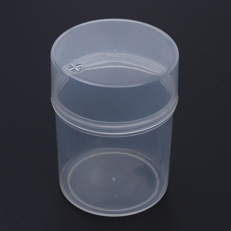 1 pc שקוף פאף ספוג מקרה ריק פלסטיק מיני איפור כלים קל לשאת לא פאף כלול יופי קוסמטי אבזר