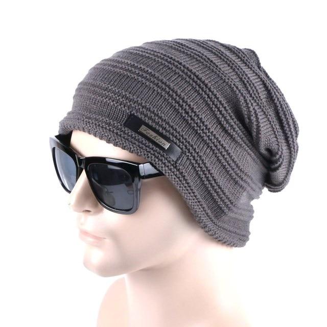 wholesale men fashion winter hat Knitting warmer man beanies set cheap  promotion fashion skullies hats 7d0731f6908f