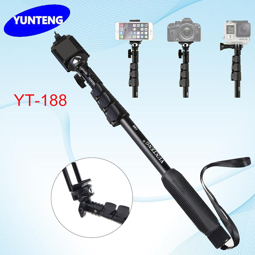 portable extendable handheld telescopic tripod selfie stick monopod yunteng 1. Black Bedroom Furniture Sets. Home Design Ideas