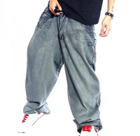 Men Retro Baggy Jeans Vintage Garment Washed Denim Pants Male Hiphop Skateboarding Jeans Letters Printed Wide