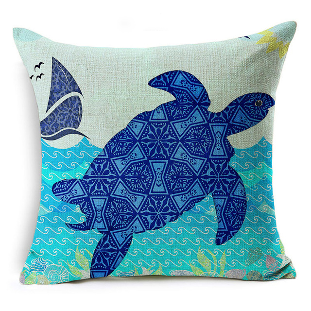 Deep Blue Ocean Pillows 3