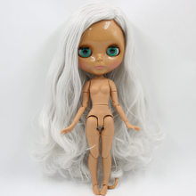 Factory Neo Blythe Doll Grey White Hair Jointed Body 30cm
