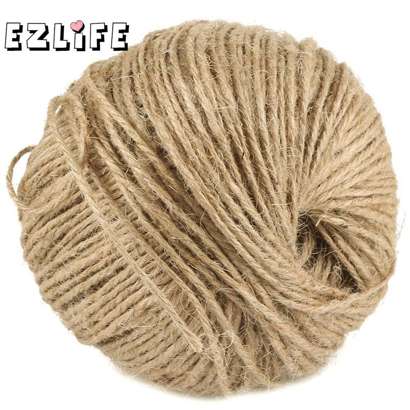 Durable New 30m Natural Sisal 2mm Rustic Tags Wrap Decoration Craft Twisted Rope