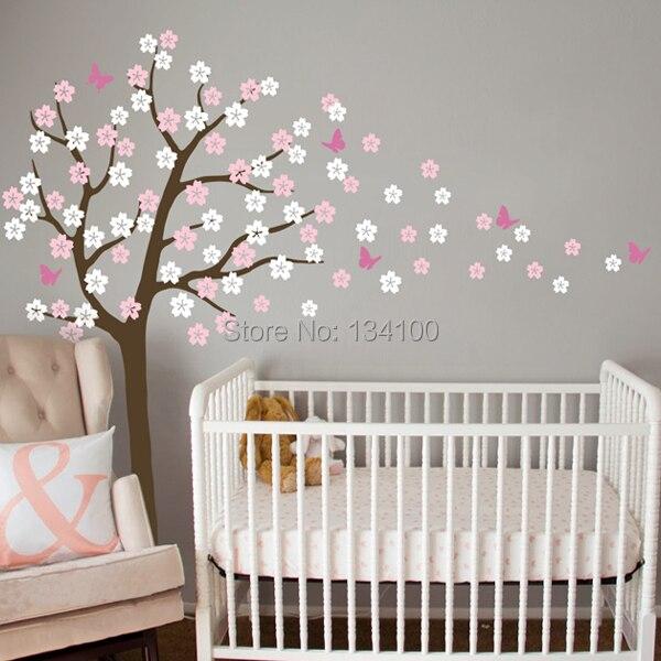 Nursery Tree Wall Decal Ing Cherry Blossom