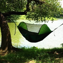 Outdoor camping tree tent. Parachute mosquito net hammock, anti-mosquito swing, air tent, outdoor marching equipment.