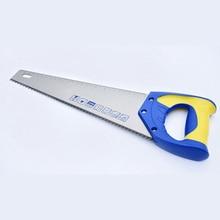 Деревообрабатывающие ручные пилы длиной 14/18 дюйма с нескользящей ручкой, средняя зубчатая пила с одним заземлением, ножовочный инструмент