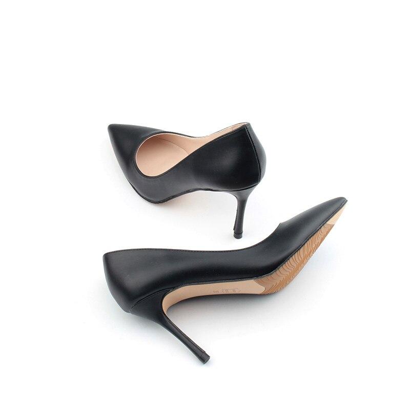 white Femme Designer K 050 8cm Heel Haut black Cm Pu Heel Pour Noir Talons Hauts Chaussures Sexy Talon Pompes En Soirée Heel De Beige Femmes 8 Cuir 1TlKcJF