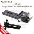 XILETU LSB-18B Alargado Kit 180mm Rail Slide Nodal Trípode Placa de Liberación Rápida Multifuncional Universal, Fotografía Accesorios