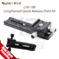XILETU LSB-18B Lengthened Quick Release Plate Kit 180mm Nodal Slide Tripod Rail Multifunctional Universal Photography Accessory