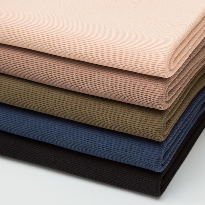 薄手のコットンスパンデックスリブ生地 160 gsm用の夏のtシャツとトップスストレッチジャージ袖口生地 0.25 メートル/0.5 メートル/ピースA0275