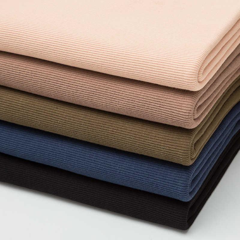 Algodón fino spandex rib tela 160 gsm para verano camiseta y tops elástico Jersey tela para puños 0,25 m/0,5 m/unid A0275