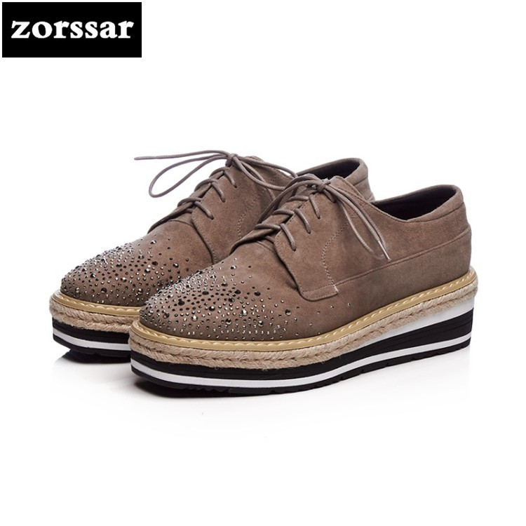 {Zorssar} 2018 fashion suede leather women shoes casual flats sneakers shoes Comfortable Female flat platform Loafers shoes summer sneakers fashion shoes woman flats casual mesh flat shoes designer female loafers shoes for women zapatillas mujer