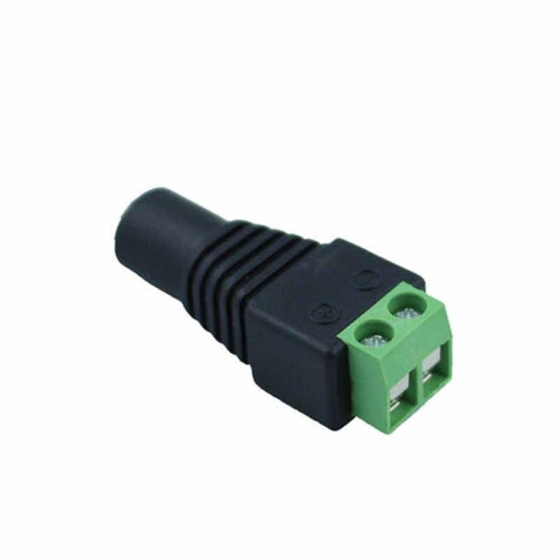 1 sztuk kobieta mężczyzna 5.5mm X 2.1mm DC kabel zasilający złącze Jack złącze wtykowe dla 5050 5630 3528 pojedyncze kolorowy pasek LED KAMERA TELEWIZJI PRZEMYSŁOWEJ