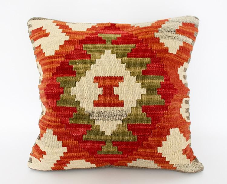 Kilim Kilrim Wool Manual Weave Nation Disturbance Sago Second Continuous System Countryside Wind 50x50 Pillow Cushion