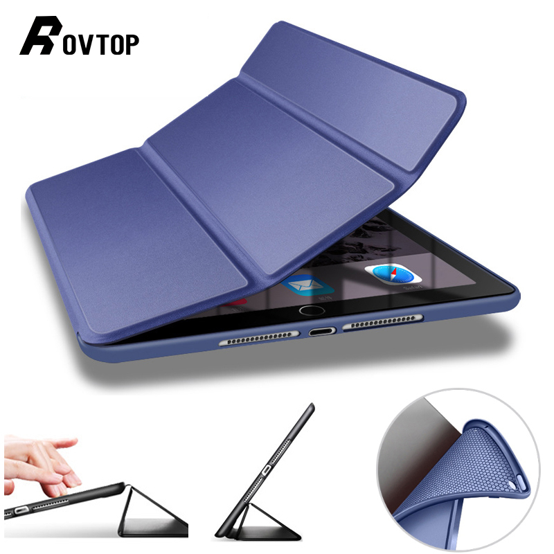 Rovtop Case for iPad 2018 pro 10.5 Air 2 1 3 for iPad 5 6 Soft Silicone PU Leather
