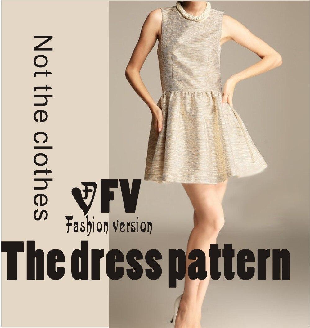 ⃝El vestido Vestidos Costura patrón de corte de dibujo blq-28 - a453