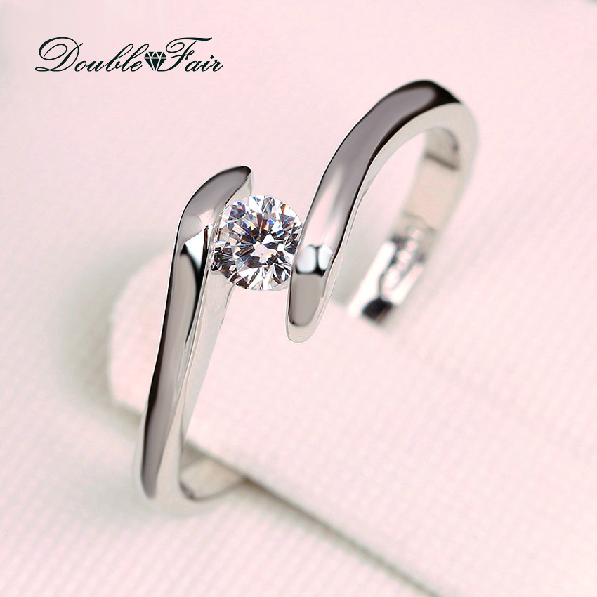 fair cubic zirconia engagement rings white gold