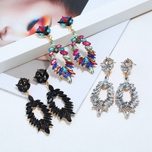 Retro Earring Europe And America Exaggerated Water Drops Elegant Nightclub Stud Earrings for Women Lady Dress