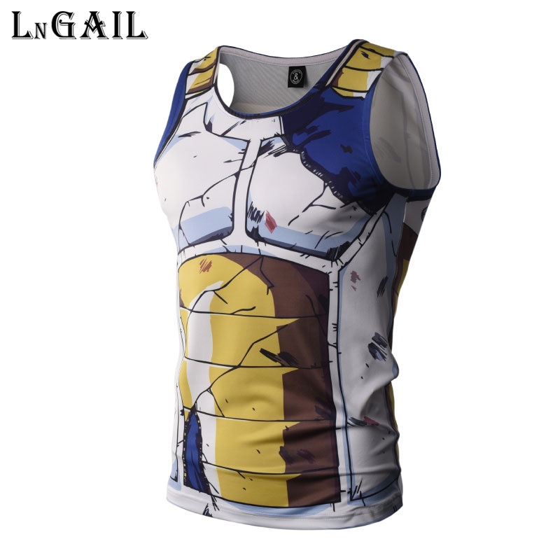 Saiyan Goku Esfera Hombres Tanque Tops Camiseta De