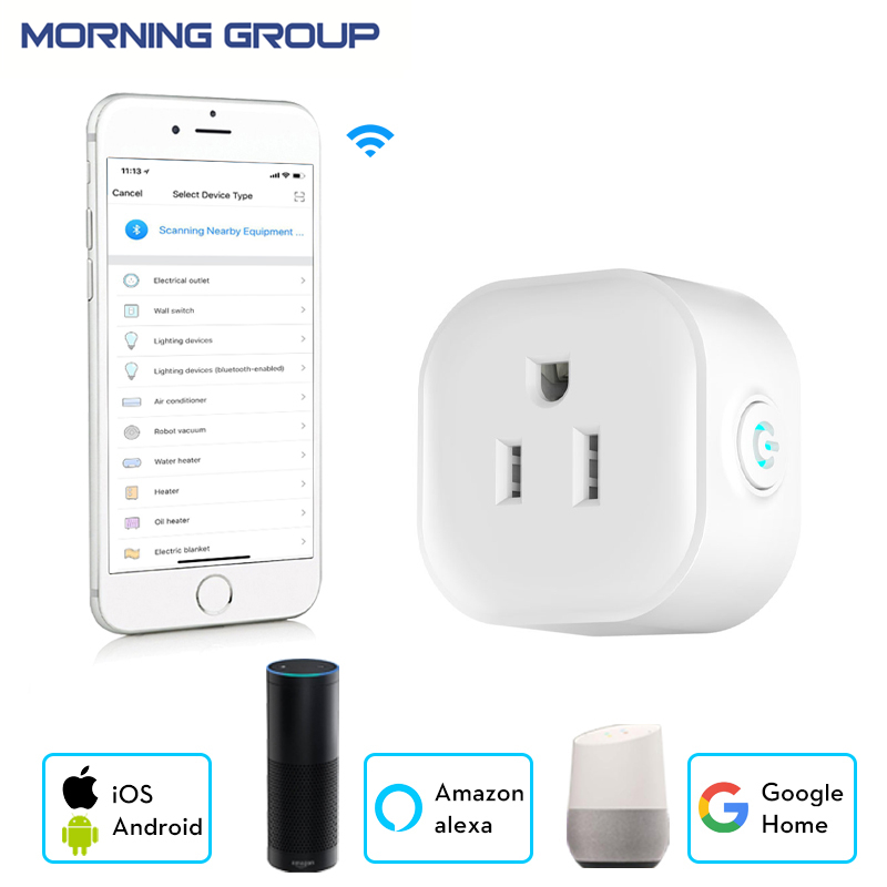 2018 New Smart Wifi Socket US Type Socket Mobile APP Remote Control Support Amazon Alexa Google Home