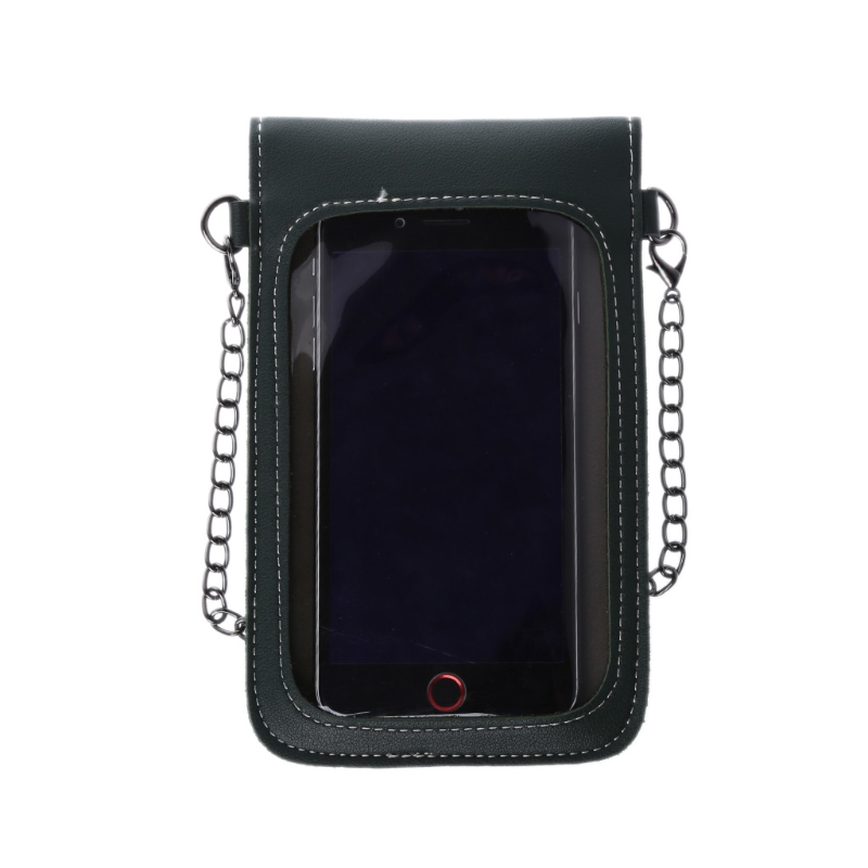 THINKTHENDO Transparent Shoulder Strap Wallet Purse Coin Phone Mobile Bag Case Touch Screen