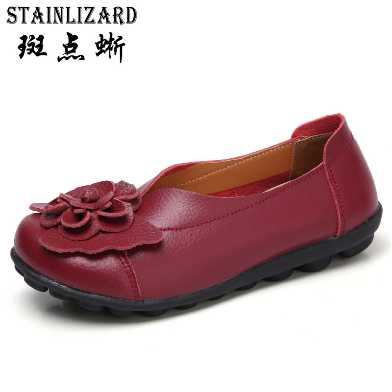 2018 PU Leather Women Casual Shoes Moccasins Loafers Ladies Mother Shoes Driving Leisure Concise Footwear Women Flats BT701 2017 new leather women flats moccasins loafers wild driving women casual shoes leisure concise flat in 7 colors footwear 918w