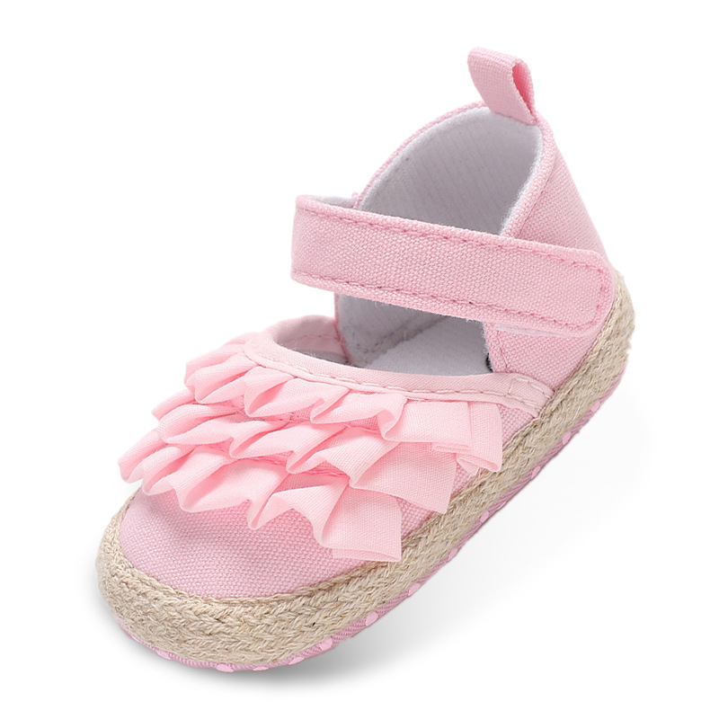 Canvas Baby Shoes Shell Shape Baby Girl Shoes Soft Sole Ventilation First Walkers Shoes Spring Autumn Season 0-18 Month