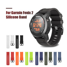 26mm Width Watch Strap for Garmin Fenix 2 Band Soft Silicone Watchband for Garmin Fenix 2 Fenix 1 Bracelet with 2 Screwdrives цена