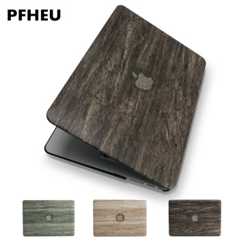 New Classical wood grain PU leather top + Hard plastic Laptop Case for MacBook Air Pro Retina 11 12 13 15 inch Touch Bar