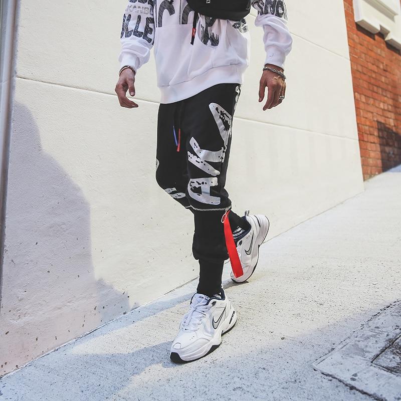 Moda Nueva Hombre Zipper Hombres Fitness Recto uu Negro Equipada Tamaño Casual Pantalones Hop Street Hip Nuevo Ee dBxqBvTr