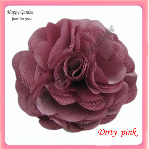 Wholesale 22colors for your choose 3 satin mesh silk flowers wholesale 22colors for your choose 3 satin mesh silk flowers brooch pin freeshipping in hair accessories from womens clothing accessories on mightylinksfo