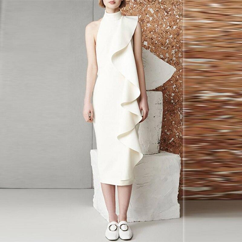 Fashion Runway Ruffle Dress