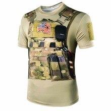 Футболка армейская новая камуфляжная Мужская 3D стильная Военная камуфляжная футболка тактическая Боевая летняя быстросохнущая футболка охотничий базовый слой