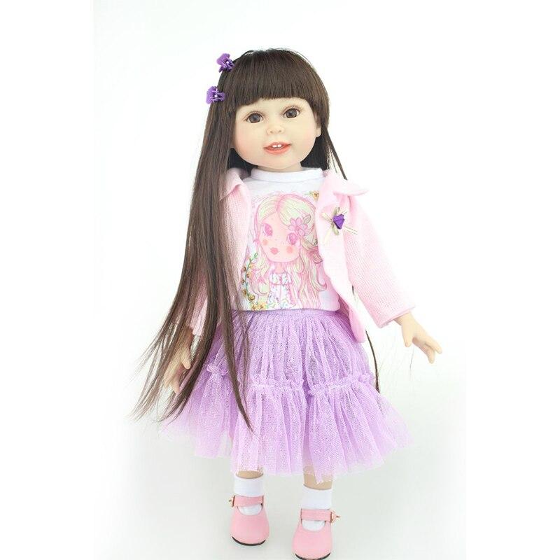 Nicery Lovely Toy Doll 18in. 45cm Lifelike Reborn Baby Lovely Girl Doll Full High Vinyl Christmas Gift for Child Pink Coat Nicery Lovely Toy Doll 18in. 45cm Lifelike Reborn Baby Lovely Girl Doll Full High Vinyl Christmas Gift for Child Pink Coat