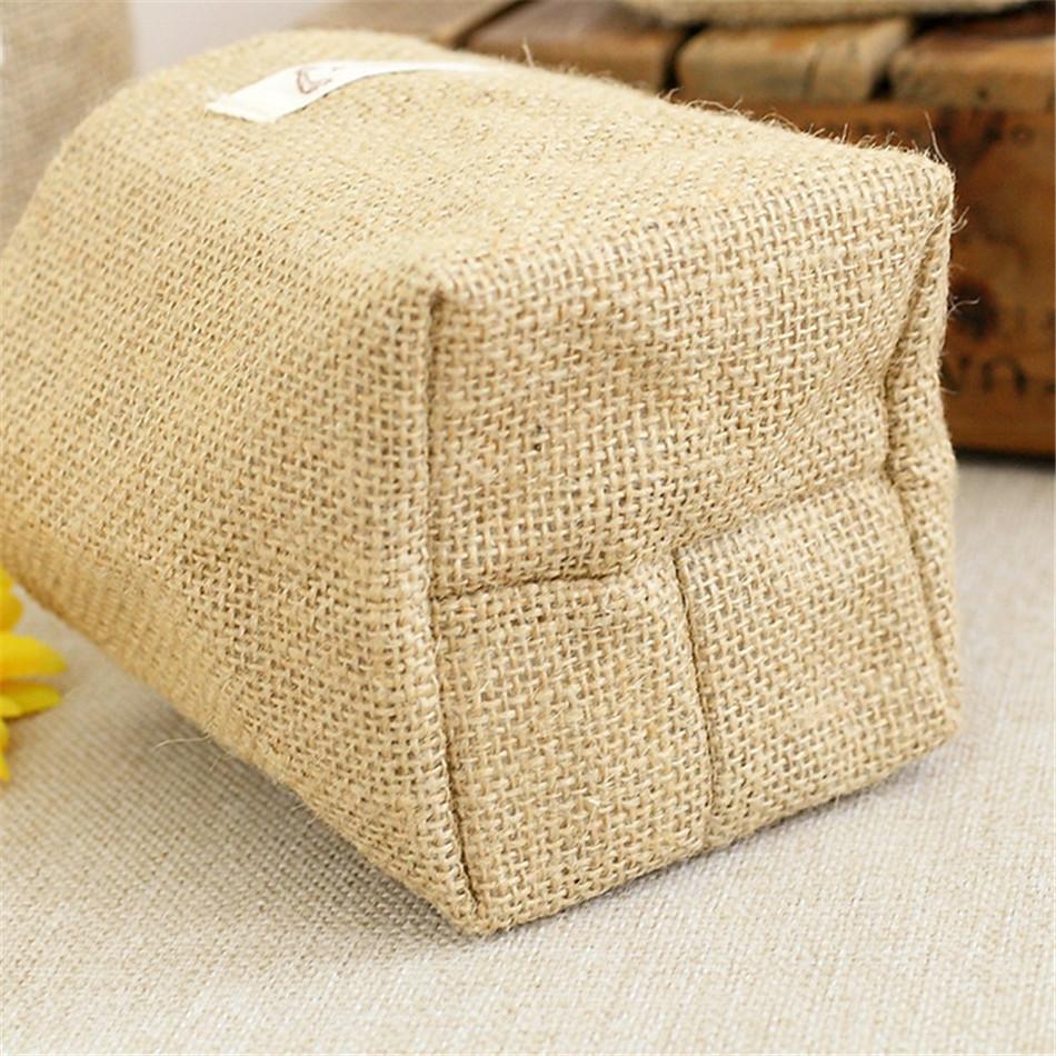 Linen Woven Storage Basket Polka Dot Small Storage Sack Cloth Hanging Non Woven Storage Basket Buckets Bags Kids Toy Box (16)