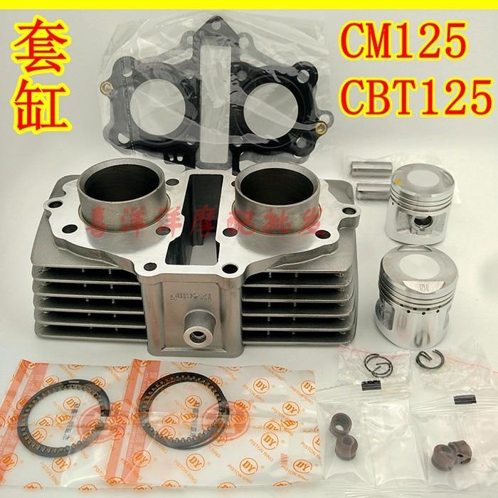 44mm Motorcycle Cylinder Kit Air-Cooled for Honda CBT125 CM125 125CC CBT CM 125 steel motorcycle brake pads for honda cm125 2 pcs