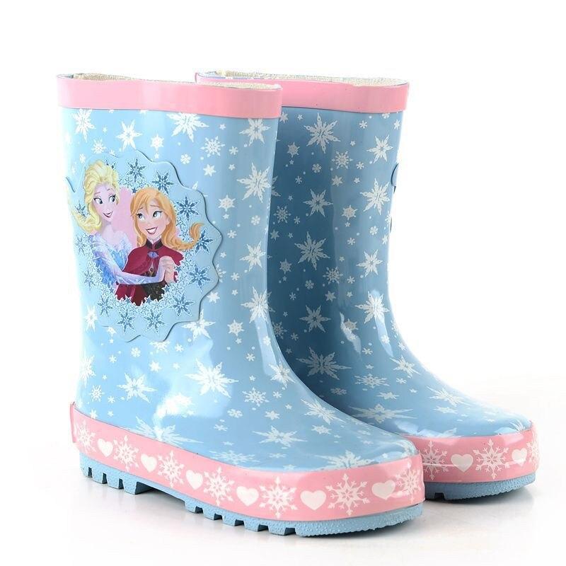 Nuevos Impermeables Niños Botas DE PVC Suave de la Jalea Zapato Infantil de La Muchacha botas Botas de Lluvia de Bebé Con Patrón Catoon Niñas Niños Lluvia zapatos