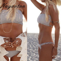 Summer 2017 Push Up New Women S Bikini Set Sexy Crop Top Bathing Suit White Thong
