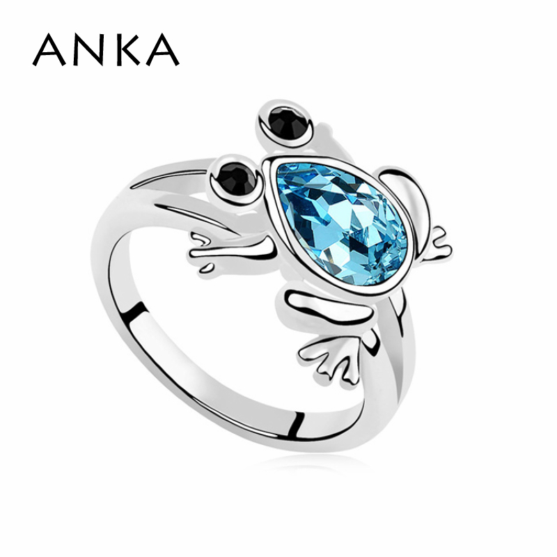 ANKA Special Offer For Frog Ring Crystals from Austria Crystal Animal Fine Jewelry Free Shipping #97886