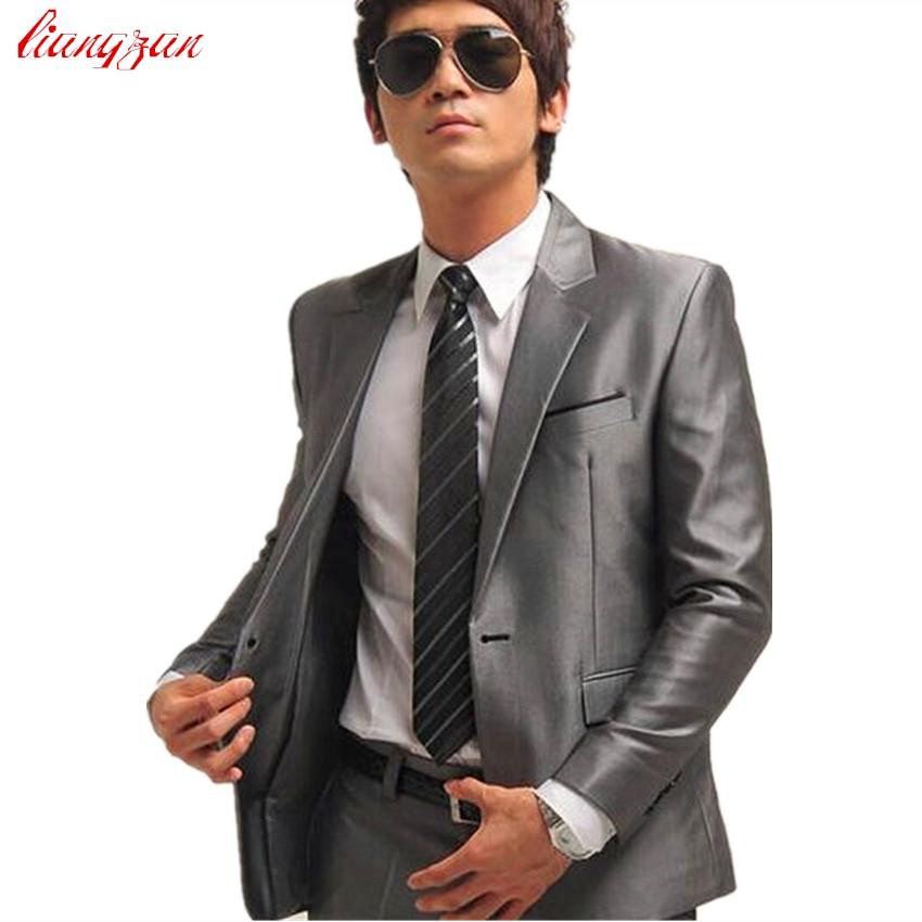 Jacket Pant Tie Men Buisness Suit Sets Tuxedo Formal Fashion Slim Fit Dress Suits Blazer