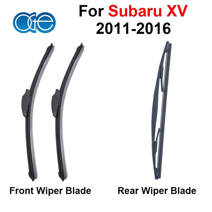 Prix pour Pare-brise Lame D'essuie-Glace Pour Subaru XV 2011 2012 2013 2014 2015 2016 Avant Et Arrière Pare-Brise En Caoutchouc de Silicone De Voiture Accessoires