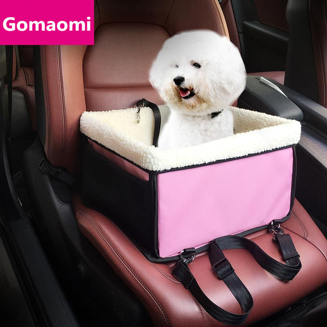 Gomaomi Cats Dogs Car Booster Seat Carrier With Belt