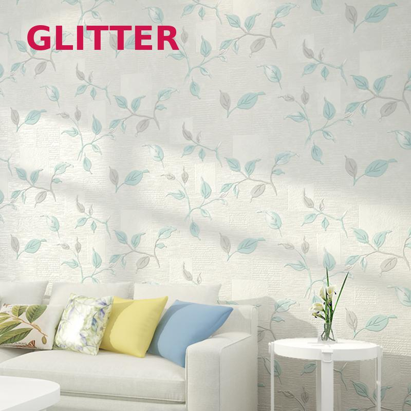 цены American Pastoral Leaves 3d Wallpaper Bedroom Non-woven Wallpaper Living Room Tv Background Wall Paper White Wallpaper Roll